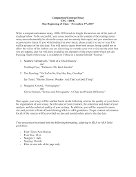 Assignment 2 Comparison Contrast Essay Instructions Studocu