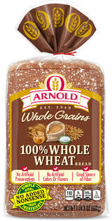 arnold 100 whole wheat bread package image