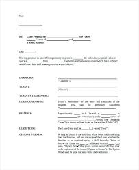 Awesome Collection Of Letter Intent For Commercial Lease Sample ...