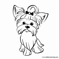 Yorkshire terrier coloring page from dogs category. Free Yorkie Puppy Coloring Pages Puppy Coloring Pages Dog Coloring Page Puppy Drawing