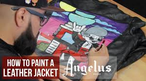 how to paint a leather jacket angelus paints