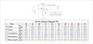 Oxford Jacket Size Chart Size Guide Oxford Company Eshop