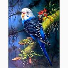Parrot Mosaic <b>Diamonds</b> Kit <b>Animal</b> Square <b>Diamond Full</b> Mosaic ...