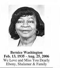 Bernice Washington Memorial - Newspapers.com