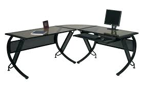 glass desk with drawers l shaped glass desk glass top l shaped desk l shaped glass