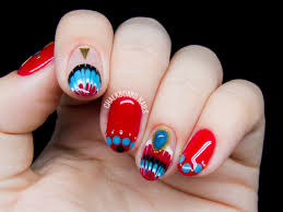 East Asia Meets The Southwest - Embellished Gel Nail Art ...