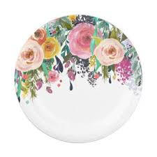 Pink Flower Paper Plates Flower Paper Plates Barca Fontanacountryinn Com
