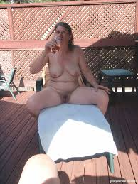 Outside Naked Getting Some Sun Mature Porn Pictures