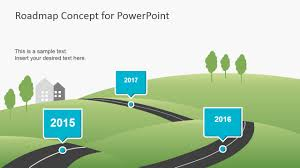 Road Map Powerpoint Roadmap Concept For Powerpoint Fppt