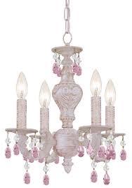 crystorama paris market 4 light rose crystal white mini chandelier i