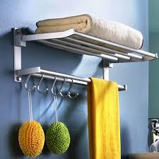 bathroom double alumiu towel rail