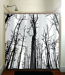shower curtain tree woodland forest grove winter trees shower by shower curtain birch trees dotz tree