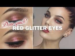 done quick red glitter eyes linda hallberg makeup tutorials you