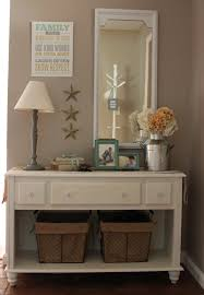 Shabby chic foyer table chalk paint beachy cottage feel