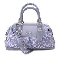 Coach Signature 3 Color Optic Large Ashley Duffle Satchel Bag Tote 18437  Pink Grey Multi