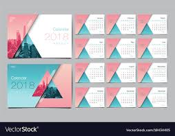 Calender Design Template Calendar Template For 2018 Year Design Layout Vector Image