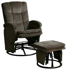 amish leola mission swivel glider rocking chair within glider recliner with ottoman