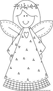 Small Picture Printable Christmas smile face angel coloring pages for kids
