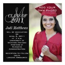 Graduation Invitations Monogram Photo