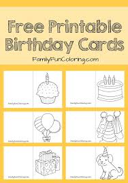 the 25 best free printable birthday cards ideas