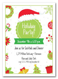 Lime And Red Holiday Christmas Party Invitations