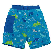 I Play Boys Pocket Trunks With Reusable Swim Diaper Free