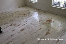 flower child designs oh yes i did paint my wood floors thank you distressed white oak