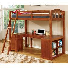 loft beds with desk woodcrest heartland futon bunk bed with extra loft honey pine mgdtjaq