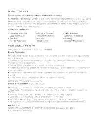 Dental Lab Technician Resumes Chemistry Lab Technician Resume Medical Laboratory Technician Resume