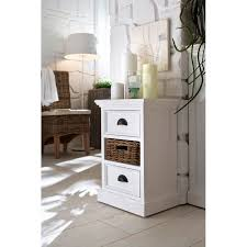 halifax white painted bedside table