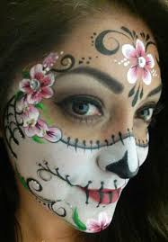 sugar skull face paint step by 3
