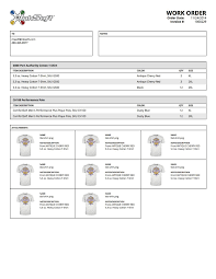 new packing slips work orders in the next software release you will a redesign of both packing slips and work orders see examples of the new layout and design below