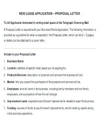 Renting Cover Letter New Business Proposal Letter Business Lease Proposal Template