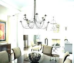 dining room chandeliers height pendant lights over dining table