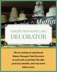 Dicks Fresh Market Bakery Manager Open Position Wabasha Kellogg