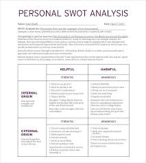 Swot Analysis Essay Examples Personal Swot Analysis Template 22 Examples In Pdf Word Free