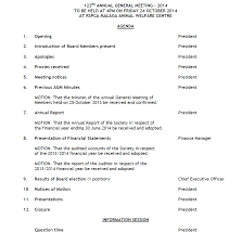 Annual Agenda Agenda For The 24nd RSPCA WA Annual General Meeting 20