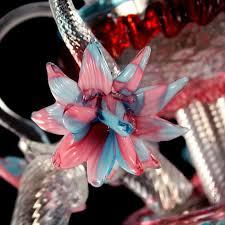 Rezzonico Kronleuchter In Farbigem Glas Mit Blumen Idfdesign