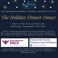 holiday dinner dance  the holiday dinner dance is an evening of dinner dancing and holiday cheer for community members age 55 and over thanks to the senior resource council