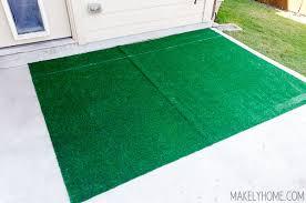 diy astroturf striped rug 5