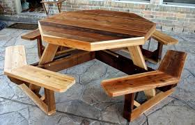 hexagon picnic table salient converts benches diy bench plans