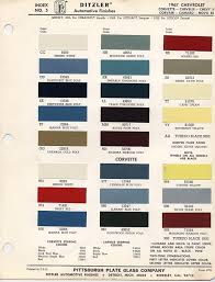 1967 1969 Camaro Factory Paint Charts