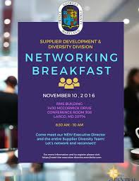 networking flyer prince georges county supplier diversity networking breakfast