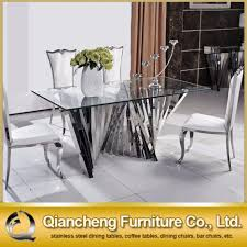 stainless steel furniture designs. Winsome Furniture Ideas Stainless Steel Dining Table Room Decor Designs
