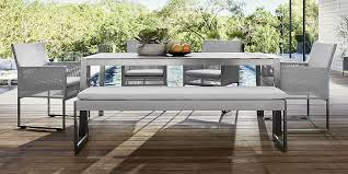 crate outdoor furniture. Dune Light Grey Dining Collection Crate Outdoor Furniture U