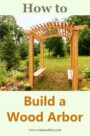 build a wood arbor with benches to add a beautiful focal point to your garden and a place to cool down on hot summer days housecalls