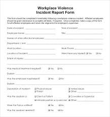 Security Incident Reporting Workplace Incident Report