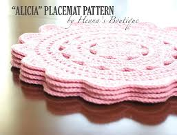 Free Crochet Placemat Patterns Adorable At Home Dining Knitting Pattern Knitted Placemat Patterns Round
