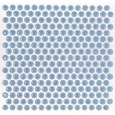 soho studio corp simple mosaic rimmed penny rounds azure