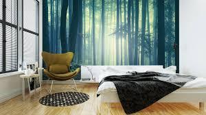 Fotobehang Slaapkamer Thema S Magische Blauwgroene Verzadigd Mistig